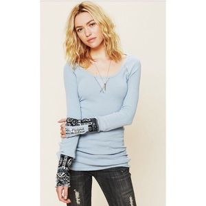 We the Free People Hyperactive Cuff Thermal Blue